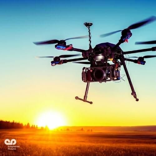 sunset-drone-LA-video-company